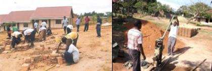 Construction at Notre Dame School in Uganda